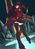 WIP . Raven Branwen Spring Maiden by ADSouto