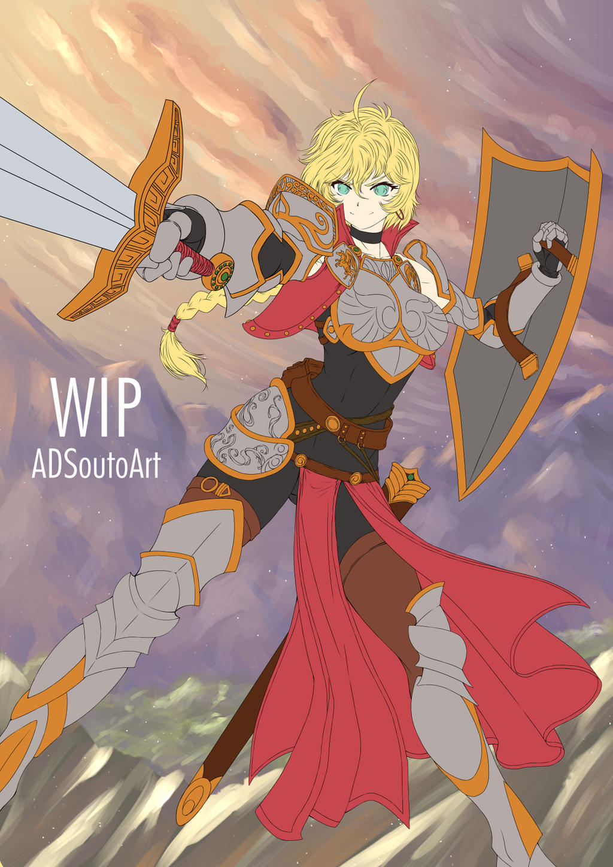 WIP - Amelia Crowguard, BG by ADSouto