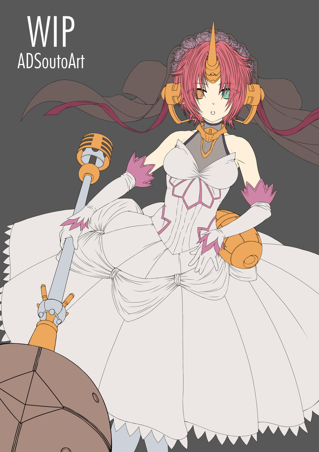 wip - Frankenstein, Wedding Dress by ADSouto