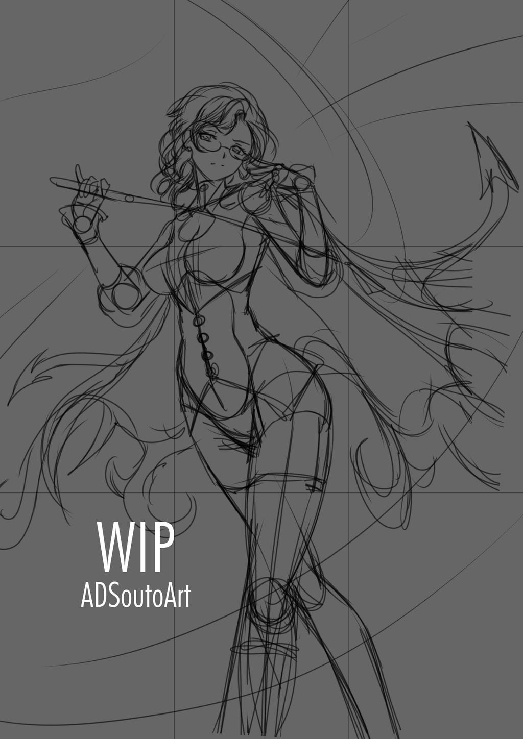 WIP - Glynda Goodwitch, Huntress Teacher by ADSouto