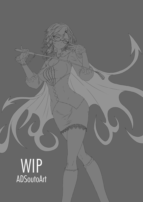 WIP - Glynda Goodwitch, Huntress Teacher by ADSouto