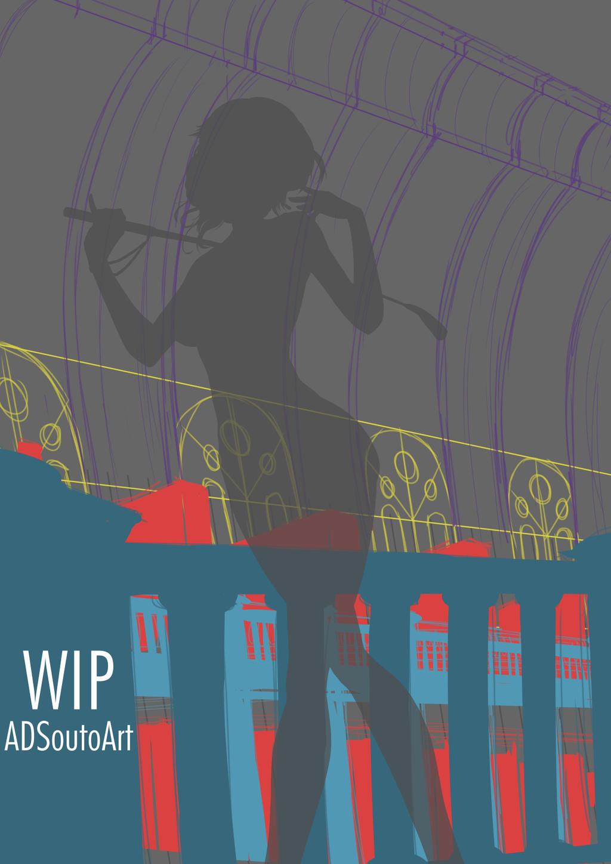 WIP - Glynda Goodwitch, BG draft by ADSouto