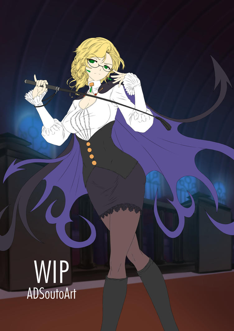 WIP - Glynda Goodwitch, Huntress Teacher BG by ADSouto