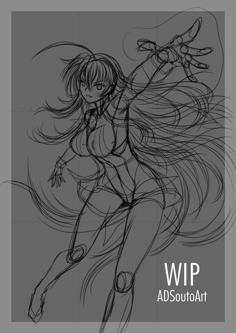 WIP - Rias Germory, Clubs President by ADSouto