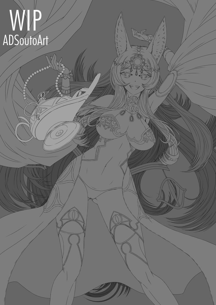 WIP - Queen Of Sheba, Fate/GO by ADSouto