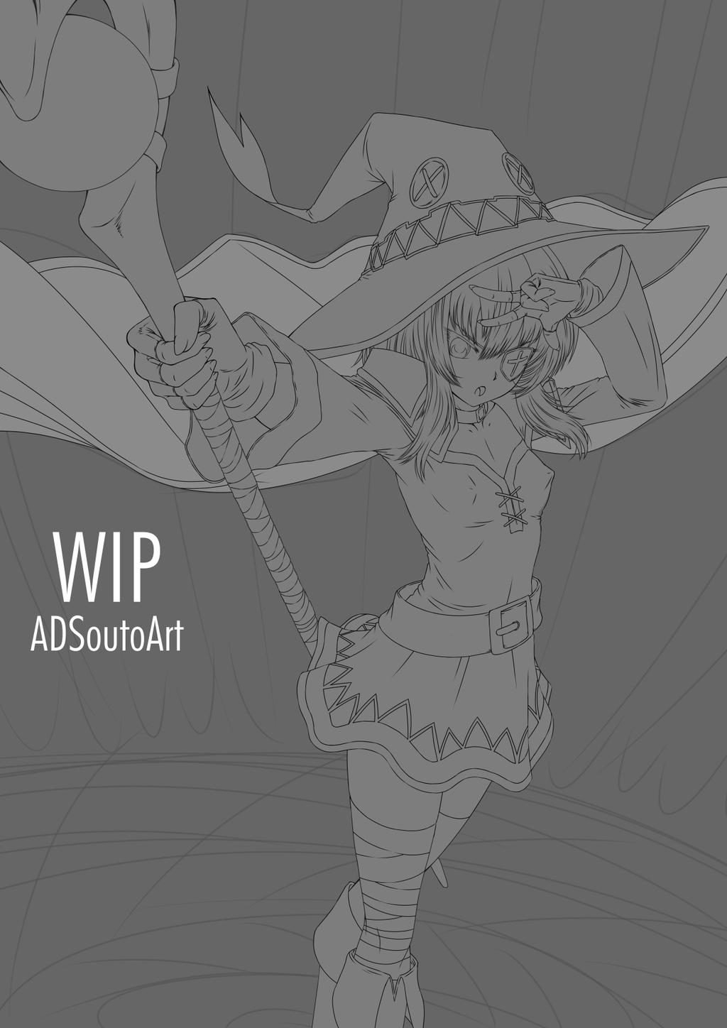 WIP - Megumin Arch Wizard by ADSouto