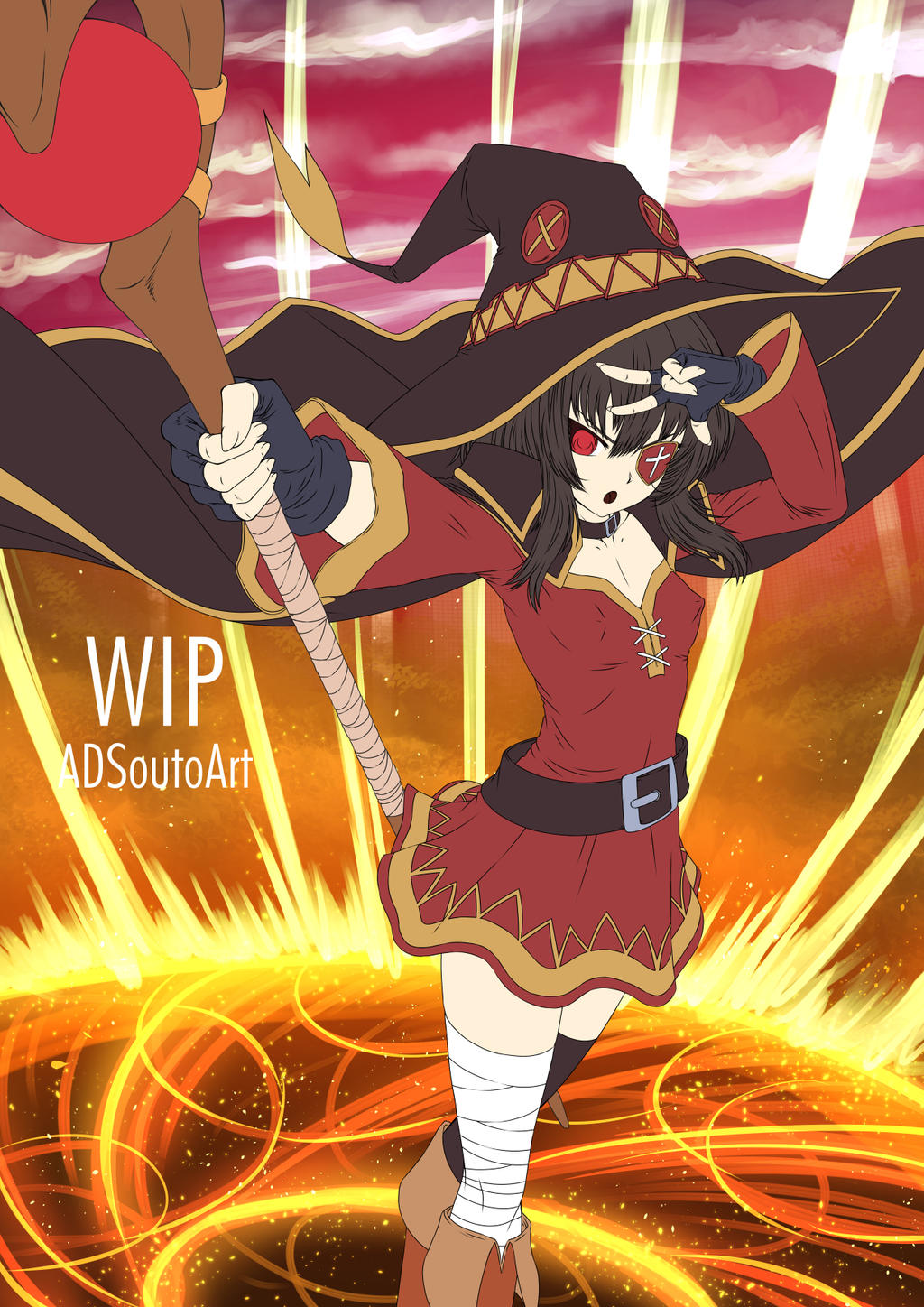 WIP - Megumin, Arch Wizard by ADSouto
