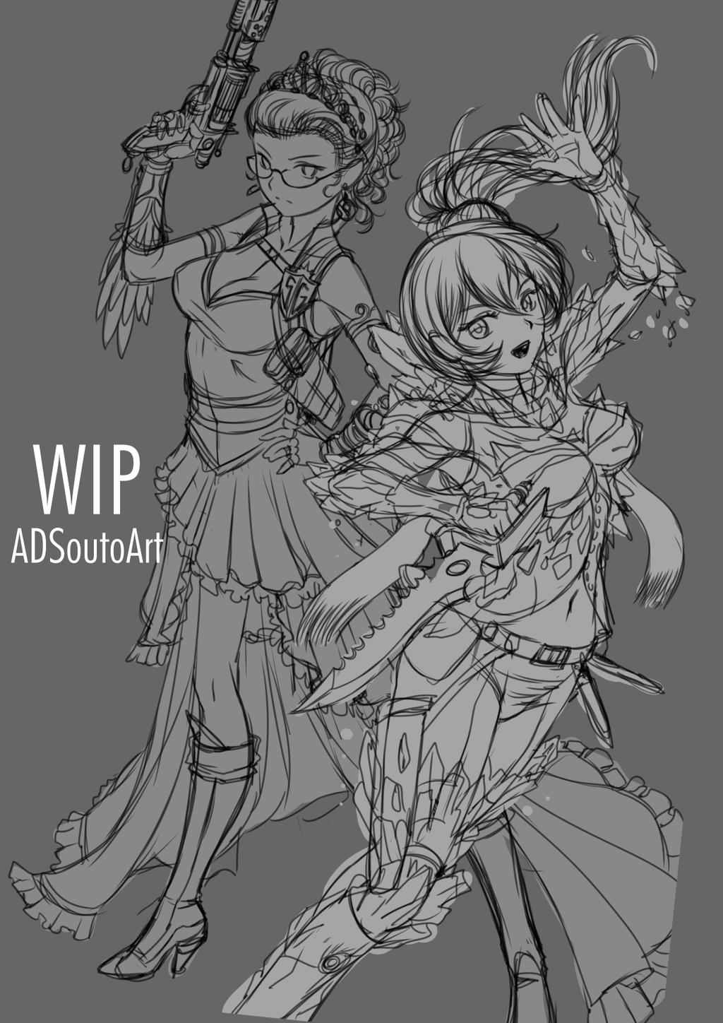 WIP - Diphridias Sisters by ADSouto