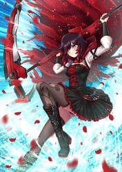 Summer Time Ruby Rose - battle suit by ADSouto