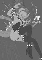 WIP - Bowsette - Lineart by ADSouto