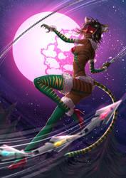 Sienna Khan Weretigress - battlecat costume by ADSouto