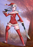 Rayla Shadowmoon Elf Assassin - Xmas Elf by ADSouto