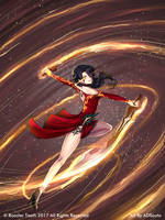 RWBY:CR - Flaming Swords by ADSouto