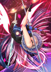 Stocking Anarchy, Sword Dance Master, Goth Loli by ADSouto