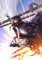 Velvet Crowe, Lord of Calamity / Battlesuit by ADSouto
