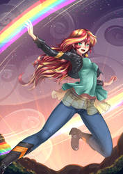 Sunset Shimmer, MLP Equestria girl - Casual by ADSouto