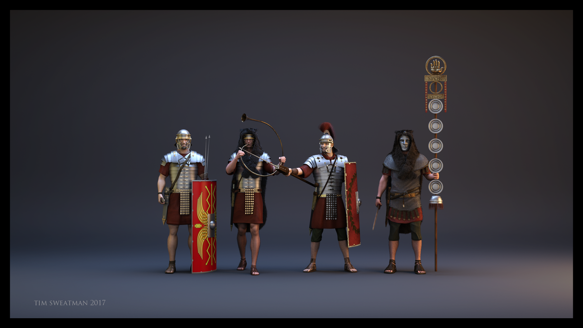 Roman Troops (Redo) by haloband