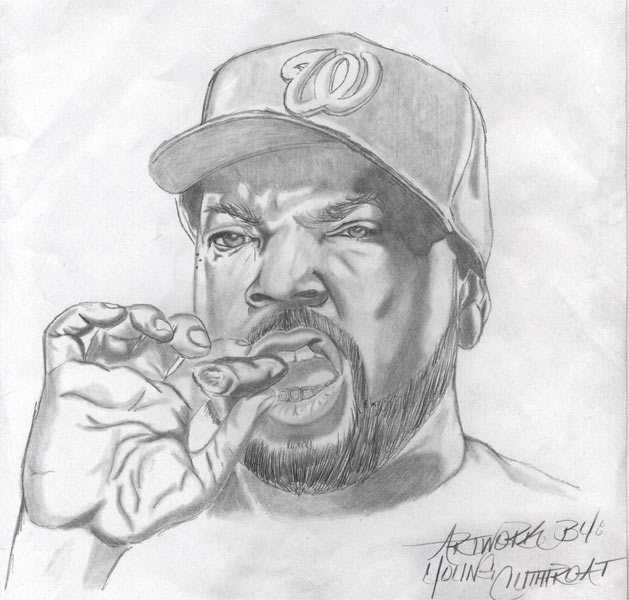Sketch: Ice Cube by YoungCutthroat on DeviantArt