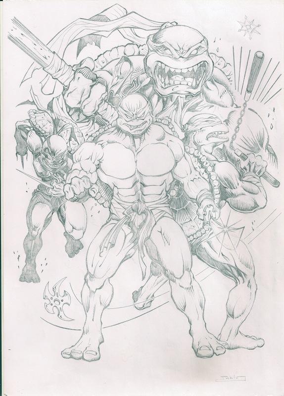 Tortugas Ninja Lapiz By Pablo Art On Deviantart