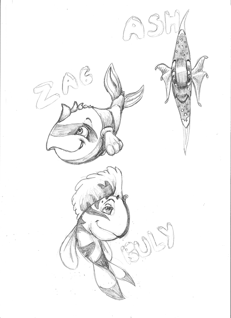 Croquis poissons by liliebia on deviantart - Croquis poisson ...