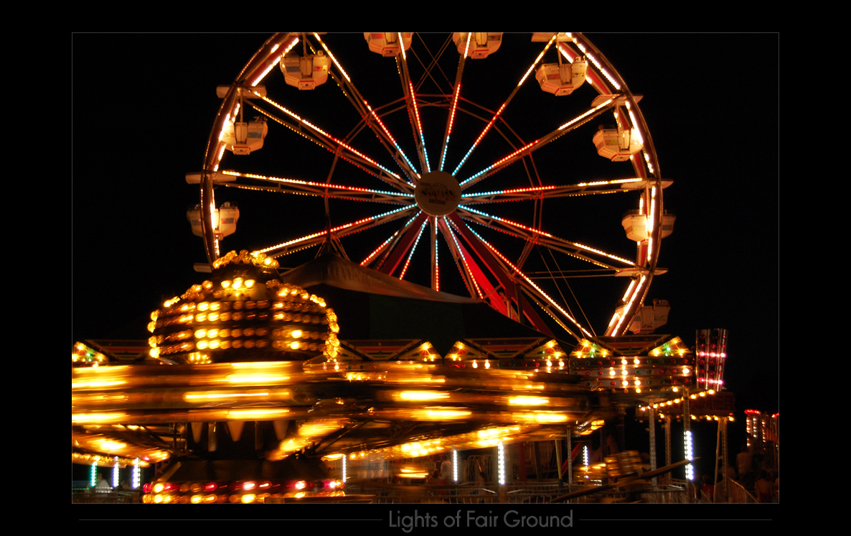 lights of fair ground