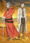Kayaba Akihiko and Heathcliff (Sword Art Online)