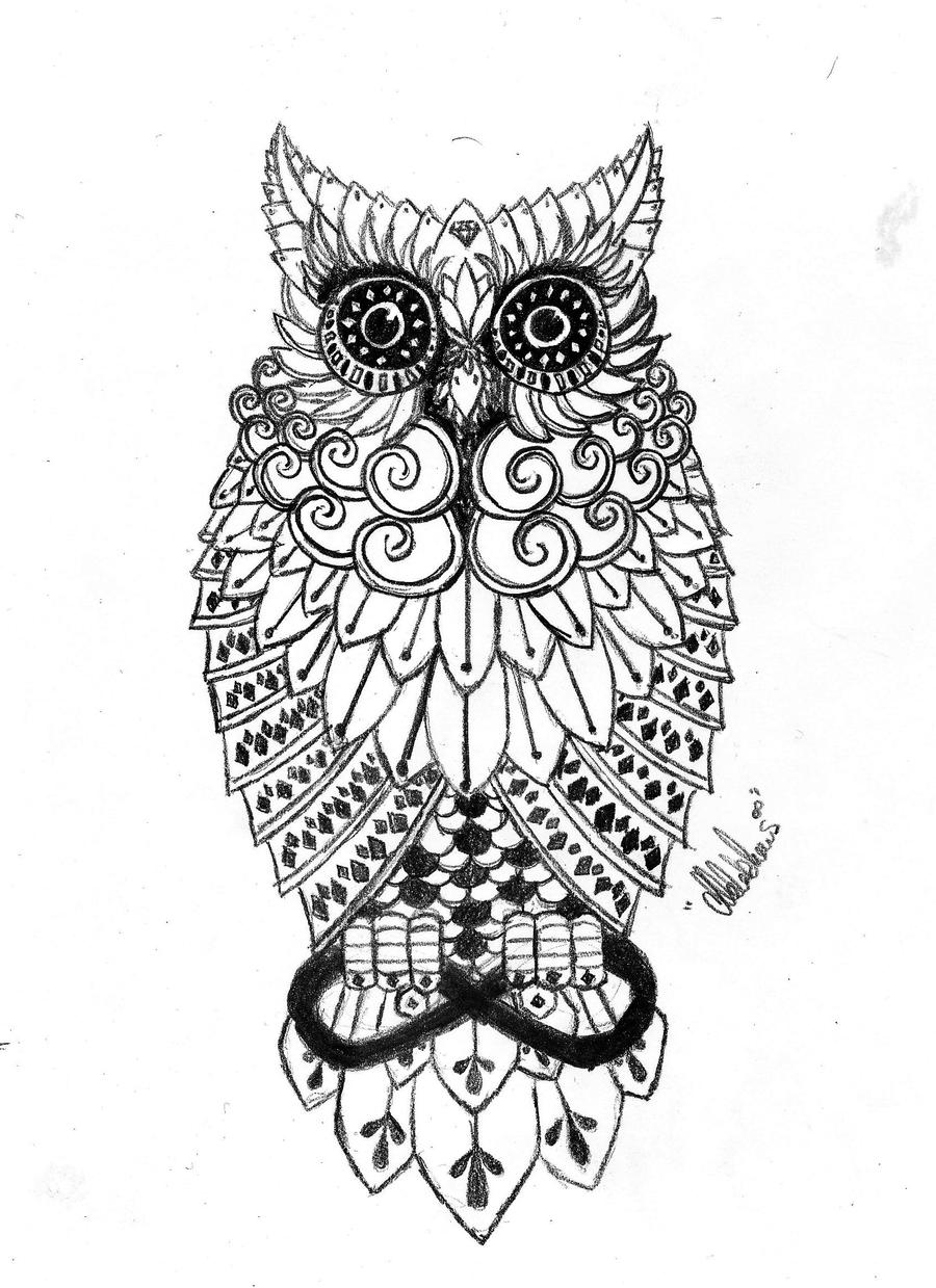 Owl tattoo by aylenwolf on deviantart for Cool drawings of owls