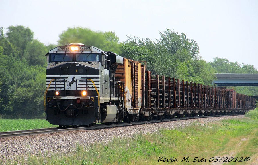 NS 7609 leads NS 912 rail train through New Baden by EternalFlame1891