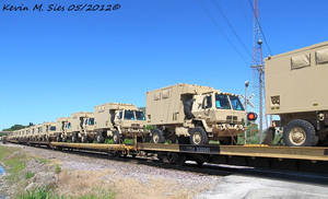Military Vehicles on UP MCHPB 29 train