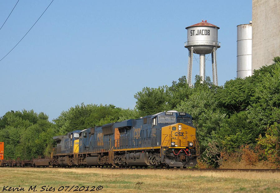 Brand Spankin New CSXT YN3B 3003 leads Q007 04 by EternalFlame1891