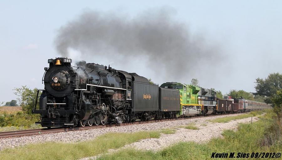 NKP 765 Steam Illinois Terminal 1072 Wabash 1070 by EternalFlame1891