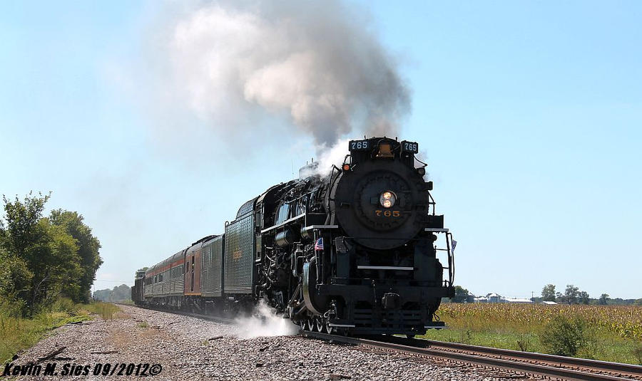 NKP 284 765 Steam leads NS 099 Passenger train by EternalFlame1891