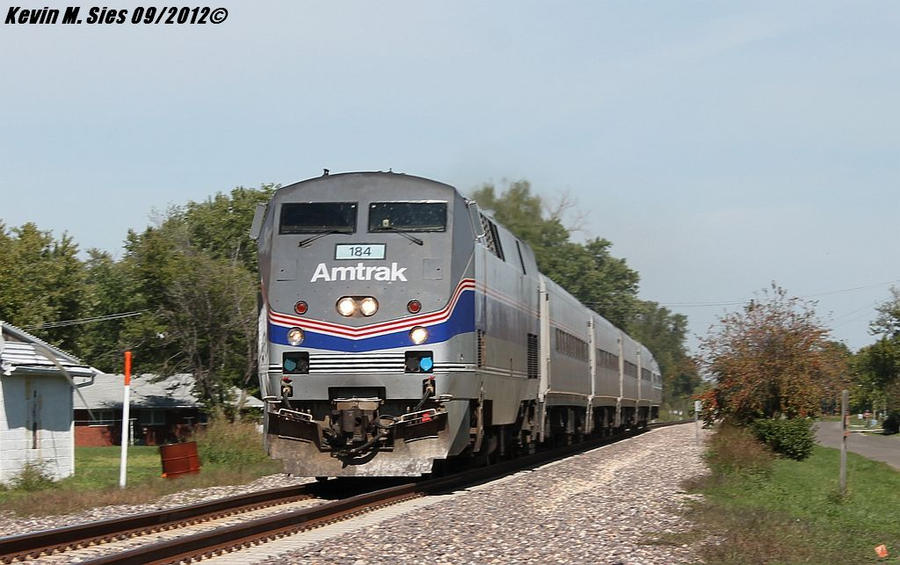 Amtrak Heritage 184 leads train 303 Brighton IL by EternalFlame1891