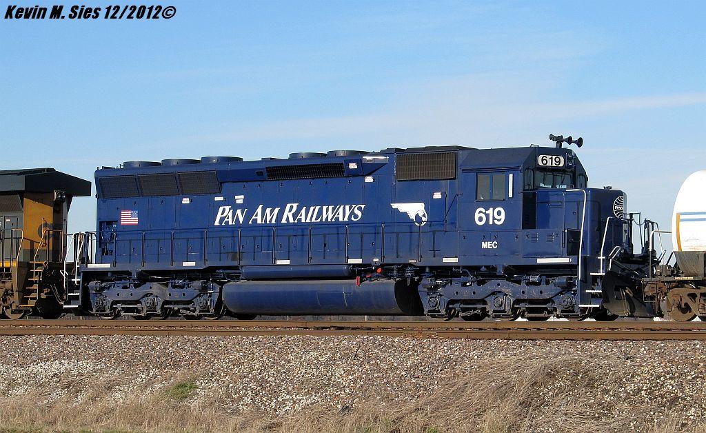Pan Am Railways MEC SD40M #619 locomotive