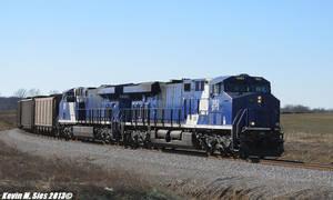 Savatrans ES44AC's 1982 and 1986 lead SS2 coal