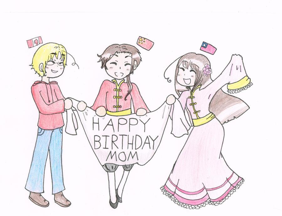 Mom Birthday Card Collab By StarlightOrchard