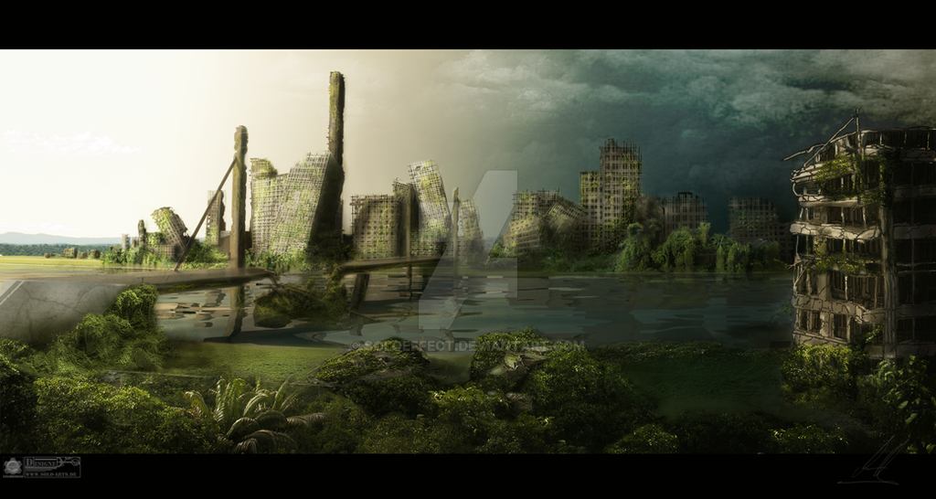 destroyed city by soloeffect