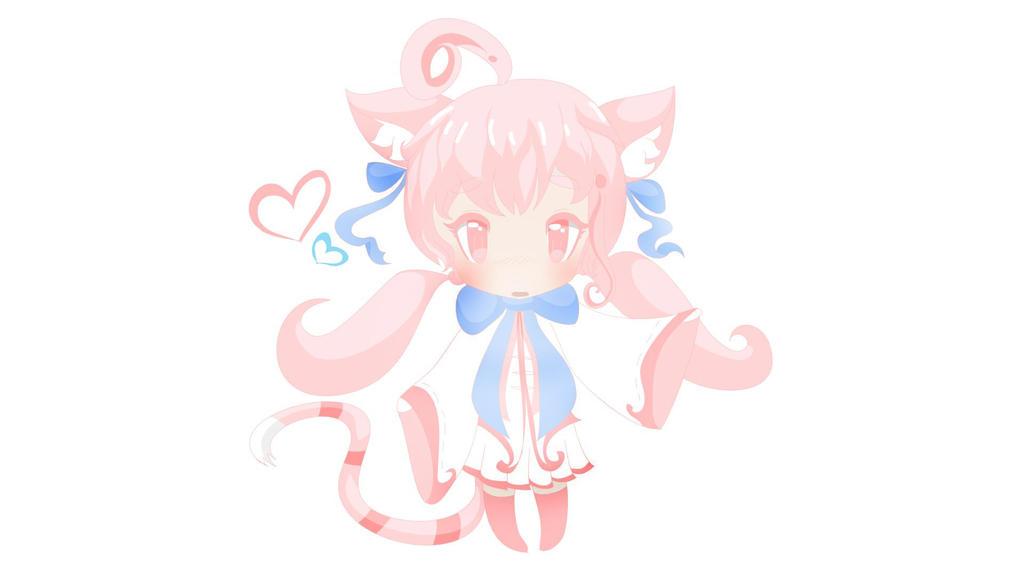 Pink Chibi Kitty by Yiya-styles