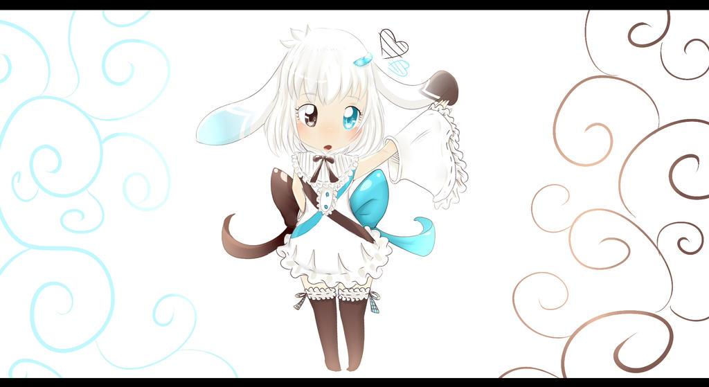 Oyonel the bunny (OC) by Yiya-styles
