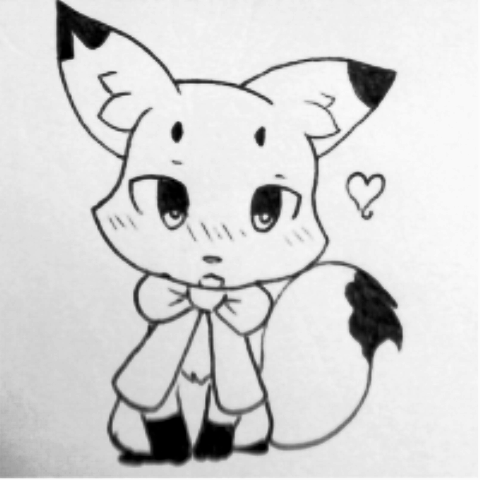 (OC) Miya ki ink pen drawing by Yiya-styles