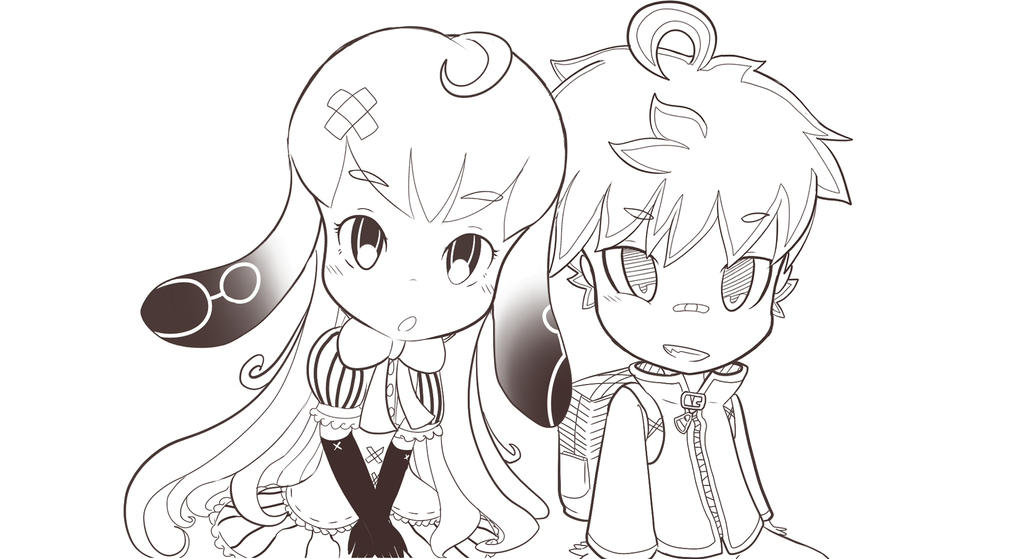 Two Ocs: Friends Photo (Not Finished yet) by Yiya-styles