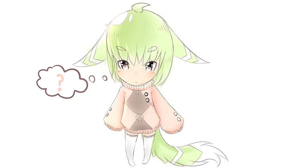 Lime green Chibi OC by Yiya-styles