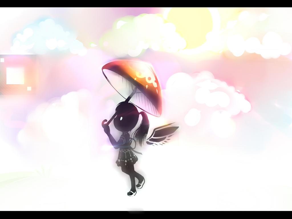 Ebony Angel in the colorful heavens by Yiya-styles