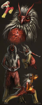 Realistic Blaziken sketchies by catandcrown