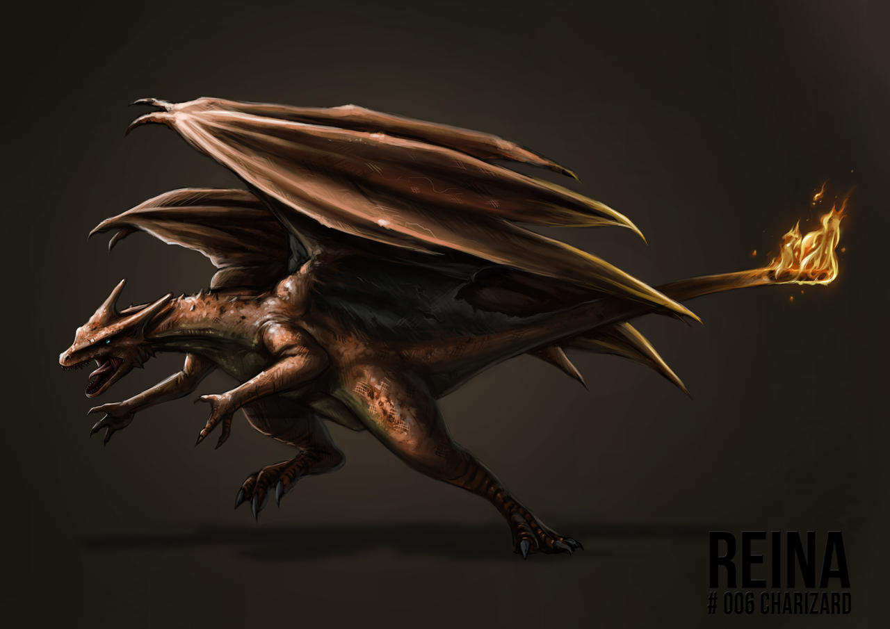 Charizard Concept by catandcrown on DeviantArt Realistic Pokemon Charizard