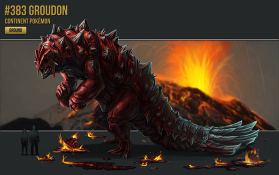 #383 - Groudon by catandcrown