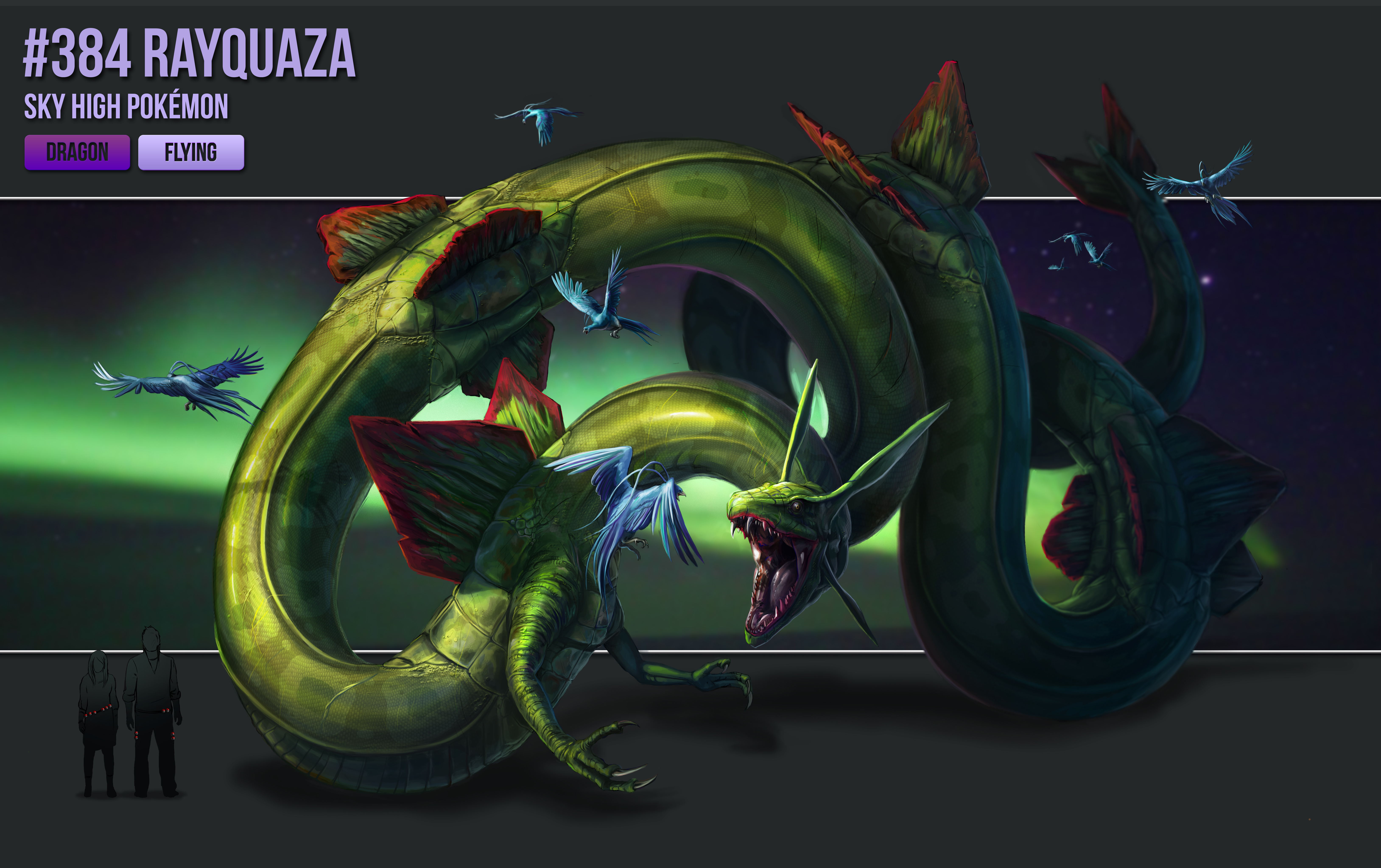 #384 - Rayquaza by catandcrown