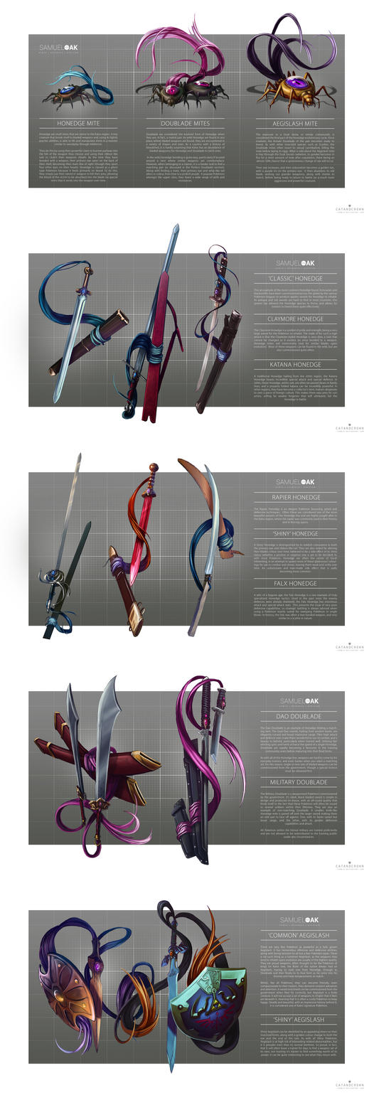 Pokemon Morphology - honedge line by catandcrown
