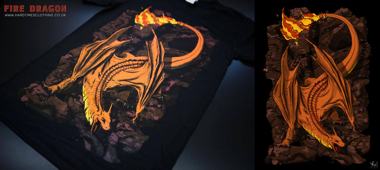 Hard Times Clothing - Fire Dragon by catandcrown
