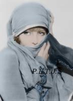 Greta Garbo in blue by Linnea-Rose